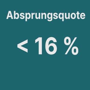 Ergebnis Make Up Radierer Absprungsquote