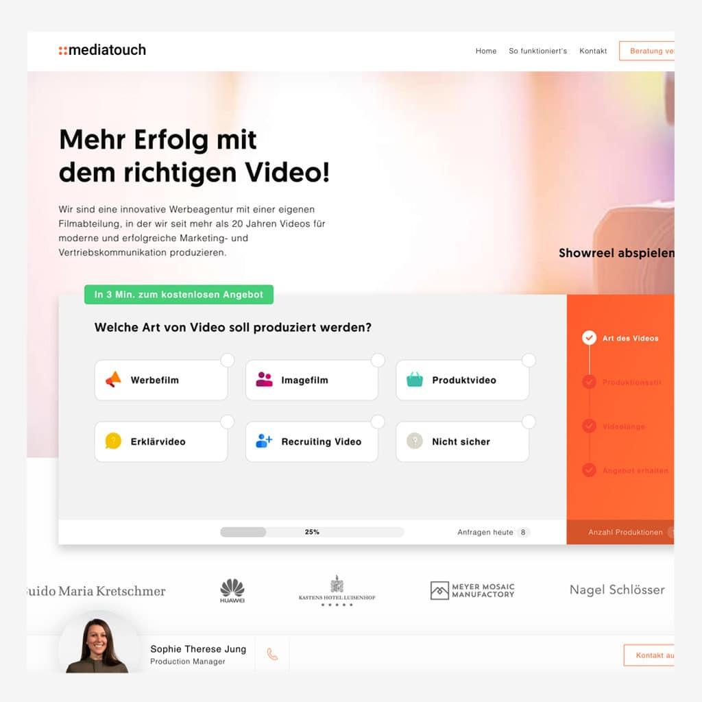 Mediatouch Landingpage